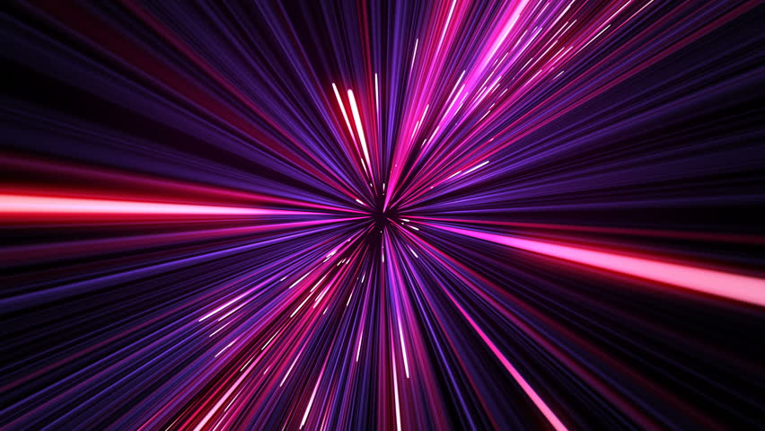 Beautiful Space Travel Through Stars Trails Turning. Abstract Hyperspace Jump Pink-Blue Color With Rotation. Digital Design Concept. Looped 3d Animation of Glowing Lines 4k UHD 3840x2160.   Shutterstock HD Video #1015562440