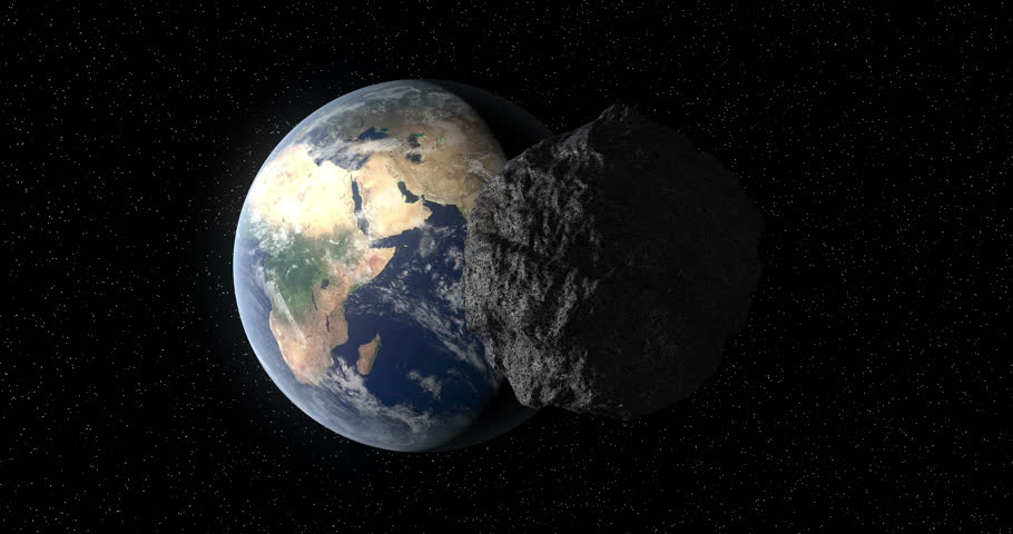 The 101955 Bennu, a carbonaceous asteroid in the Solar System,  a potentially hazardous object impacting the Earth in the future.  As illustration or background. 3D rendering. Royalty-Free Stock Footage #1015640593