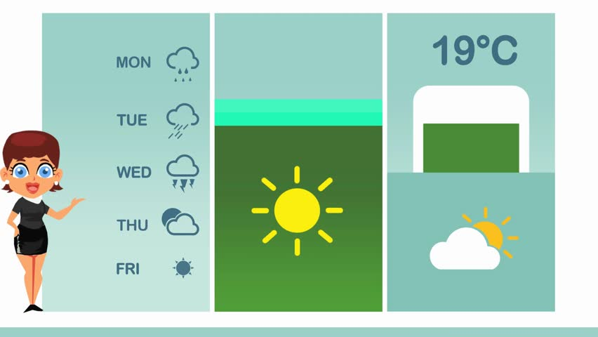 Weather forecast in vector animation | Shutterstock HD Video #1015662883