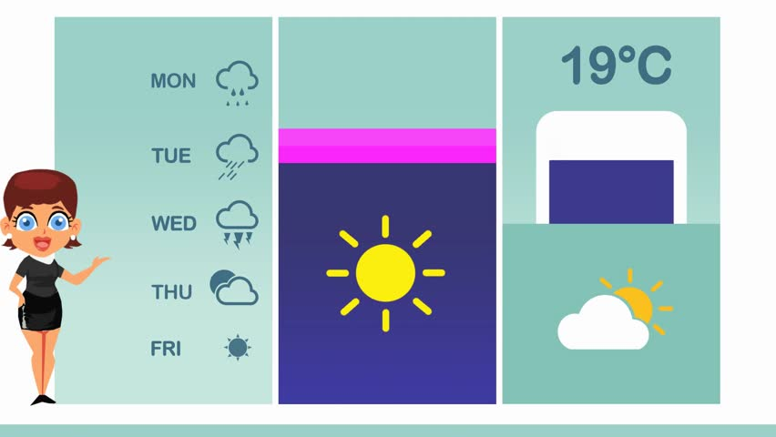 Weather forecast in vector animation | Shutterstock HD Video #1015662886