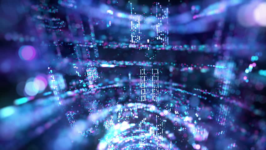 Tech particles rotation visual loop for concert, night club, music video, events, show, fashion, holiday, exhibition, LED screens and projection mapping.   Shutterstock HD Video #1015675276