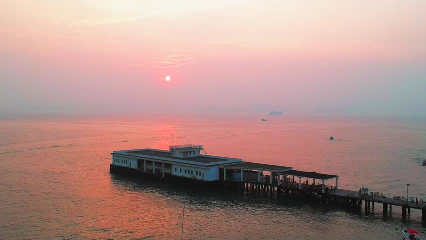Sunset in Lamma Island, Hong Kong   Shutterstock HD Video #1015680130