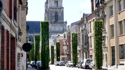 In France, Orléans is a medieval town. View of the city centre, close to the famous cathedral.