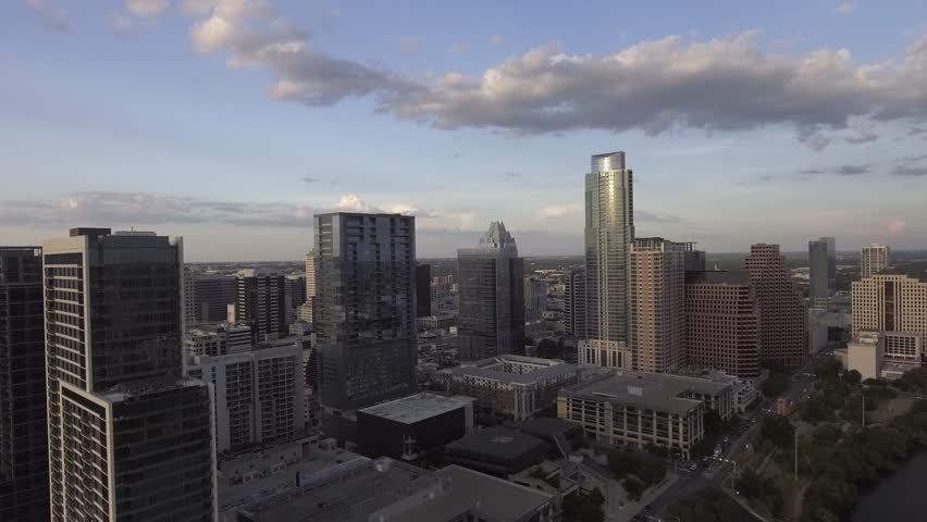 Aerial View of Skyline during Sunset. | Shutterstock HD Video #1015702951