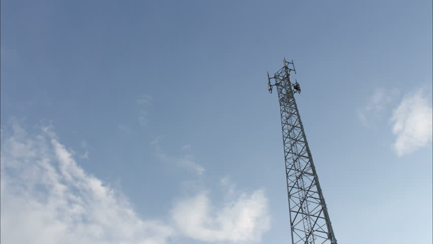 Telephone pole and blue sky time lapse   Shutterstock HD Video #1015771708