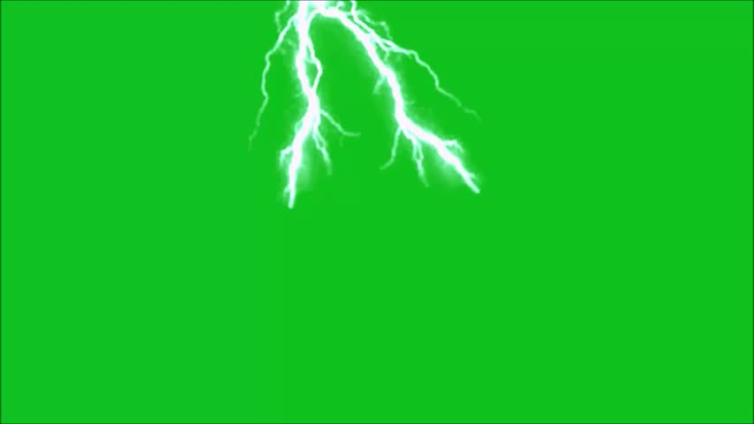 Lighting bolt green screen background