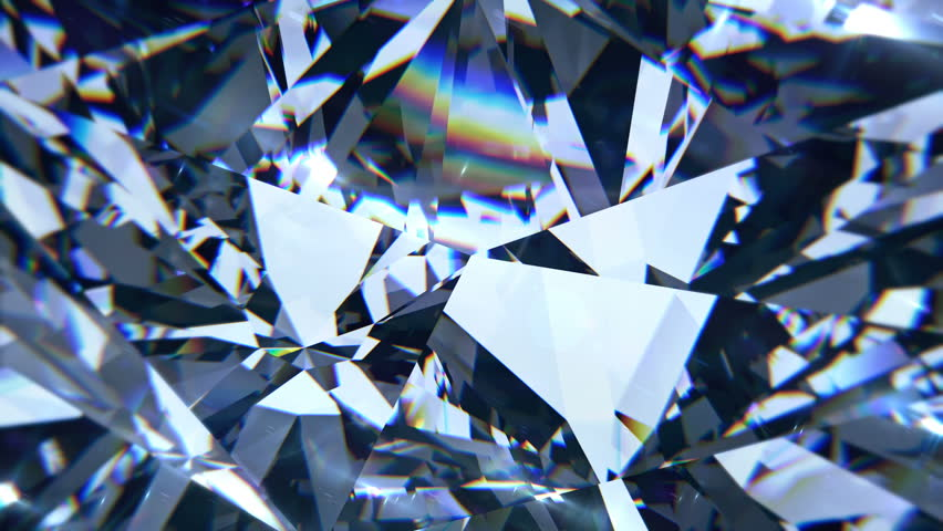 Blue diamond dispersion footage. Fancy color diamond. Round diamond cut animation with light dispersions on surface. 3D animation of shiny gem stone. | Shutterstock HD Video #1015843726
