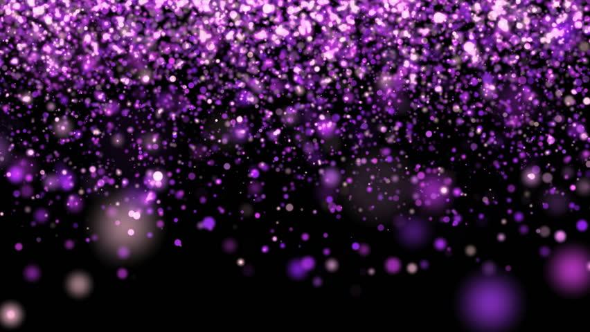 Purple glitter rain falling down on black background. | Shutterstock HD Video #1015909138