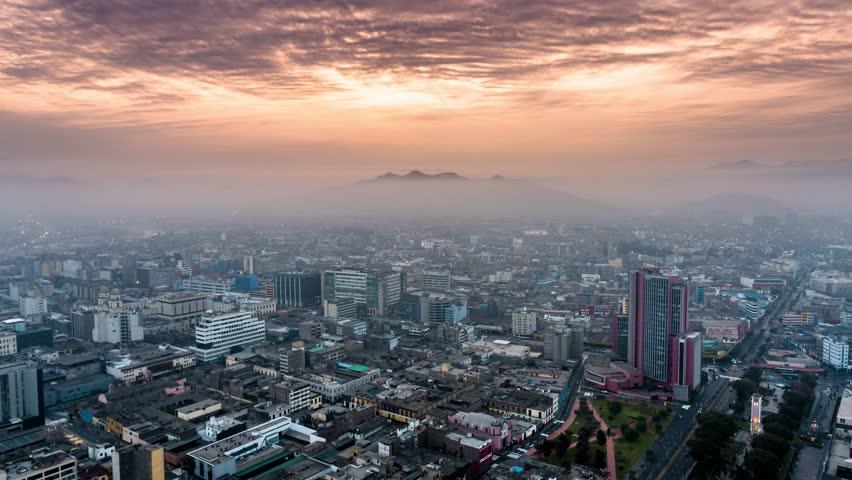 Establishing Aerial View of Lima, Peru