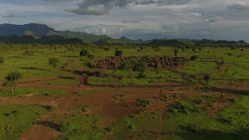 Turkana County Kenya tribe village Savannah, National Park Maasai Mara, Africa.