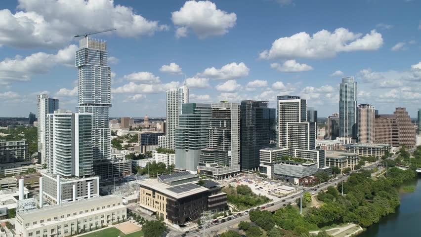 Downtown Austin Aerial Cesar Chavez