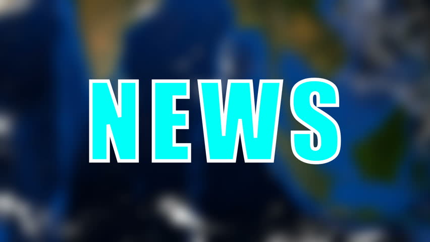 Letters of News text on background with rotating earth, 3d rendering background, computer generating for news | Shutterstock HD Video #1015966021