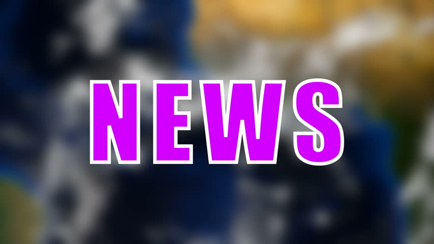 Letters of News text on background with rotating earth, 3d rendering background, computer generating for news | Shutterstock HD Video #1015966030
