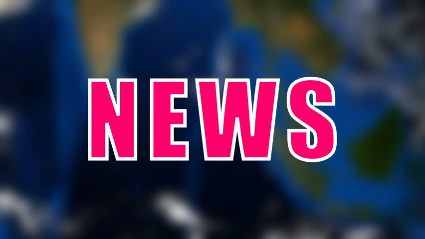 Letters of News text on background with rotating earth, 3d rendering background, computer generating for news | Shutterstock HD Video #1015966042
