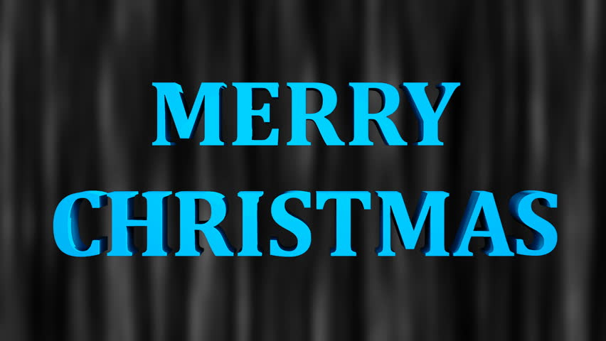 Merry christmas bright text and snowfall, 3d rendering background, computer generating for holidays festive design | Shutterstock HD Video #1015966300