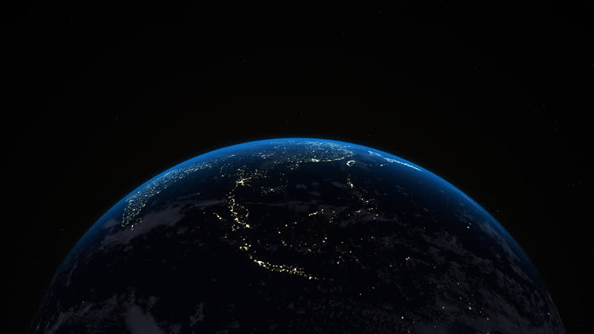 On Earth is 3D Motion render Background for advertising and wallpaper in space. Also good background for scene and concept. 3D rendering in Blender | Shutterstock HD Video #1015986745
