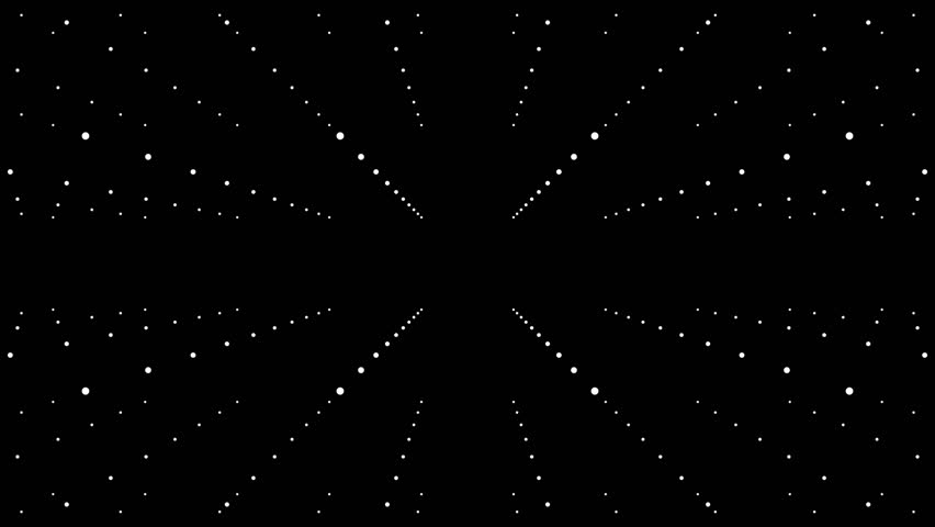 4k Technology Cube Box Spinning/ Abstract minimal animation of cube with dots particles spinning