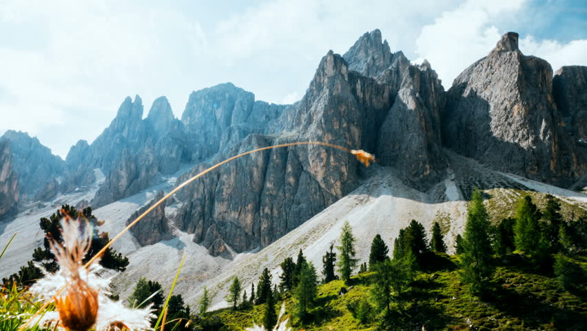 Timelapse in the Puez Odle national park, Dolomites   Shutterstock HD Video #1015996726