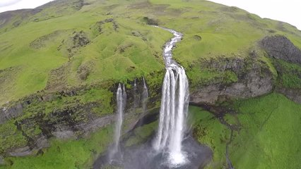 Seljalandsfoss is a waterfall in Iceland. Seljalandsfoss is located in the South Region in Iceland right by Route 1 and 120km from Reykjavik