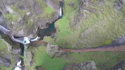 Fja_rárgljúfur, Iceland. The canyon in the south eastern part of the country is often referred to as the most beautiful one in the world.
