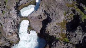 Hraunfossar waterfalls are naturally a popular tourist attraction