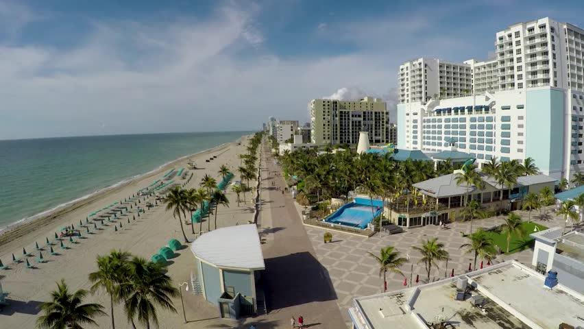 Hollywood Boardwalk Aerial Track South   Shutterstock HD Video #1016107822