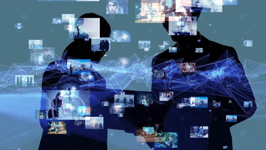 Social networking concept.   Shutterstock HD Video #1016112328