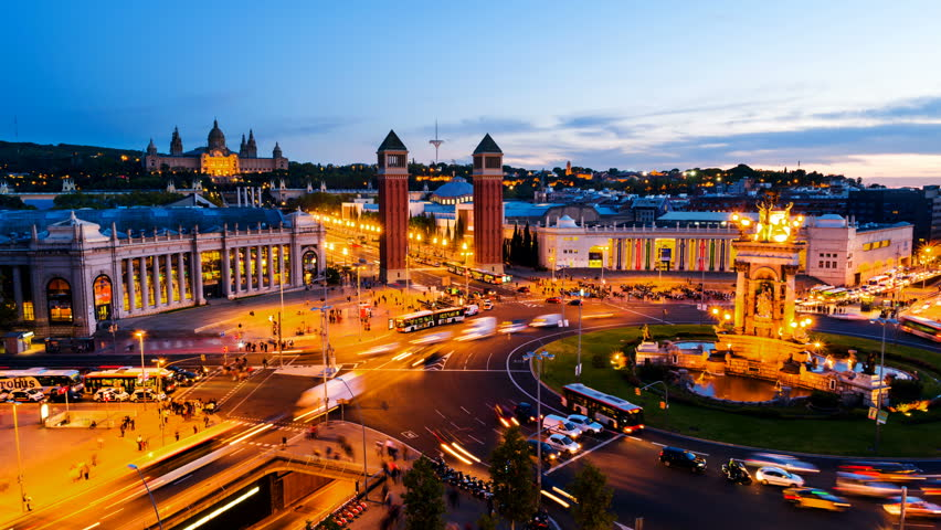 Barcelona Spain Spanish Square Aerial Stock Footage Video 100 Royalty Free 1016123212 Shutterstock