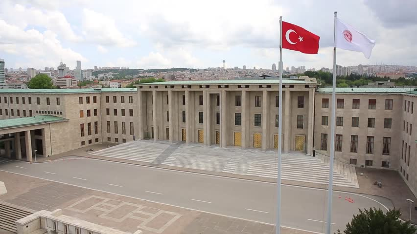 Turkiye Buyuk Millet Meclisi, Grand National Assembly located in Ankara, Turkey.