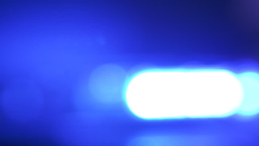 Defocused police red blue emergency lights flashing in the dark | Shutterstock HD Video #1016316505