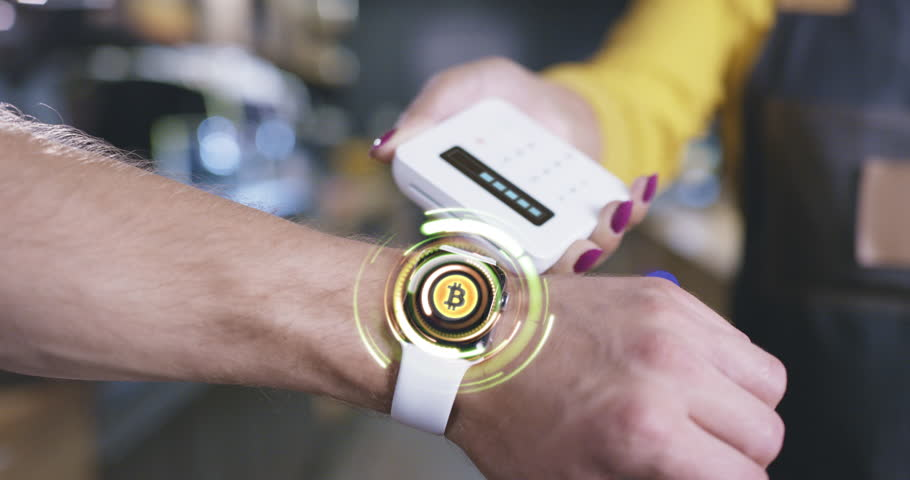 Hand With Futuristic Smart Hud Watch Hologram Display Choosing Options Payment Methods Crypto Currencies Paying Wirelessly Future Of Payment Concept | Shutterstock HD Video #1016321473