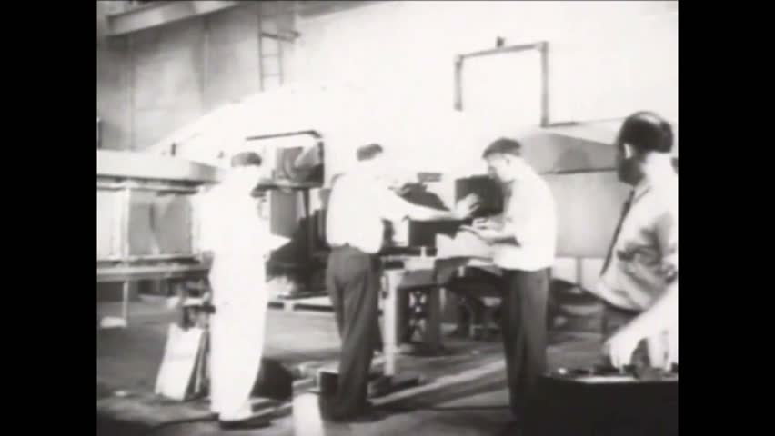 CIRCA 1940s - A montage shows many important postwar developments in US Navy aviation (narrated in 1961).
