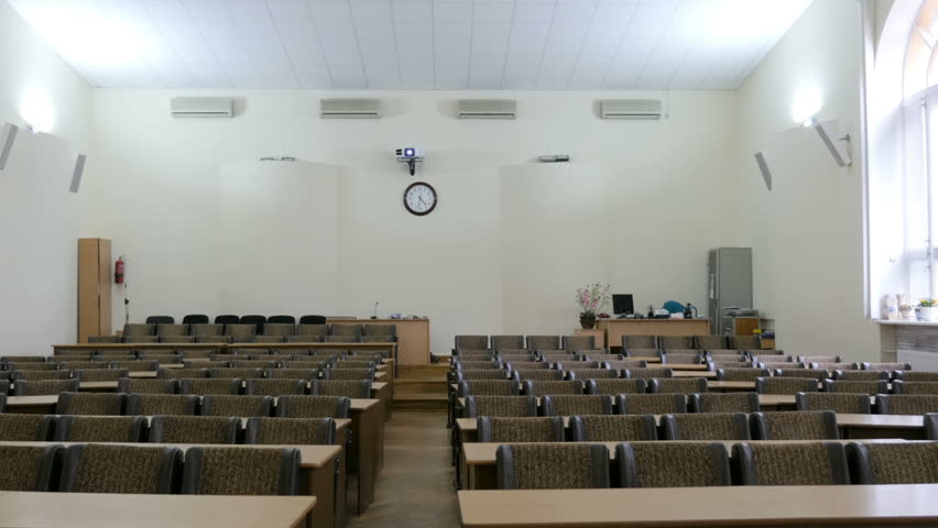Panning of empty conference hall, lecture hall, assembly hall | Shutterstock HD Video #1016330053