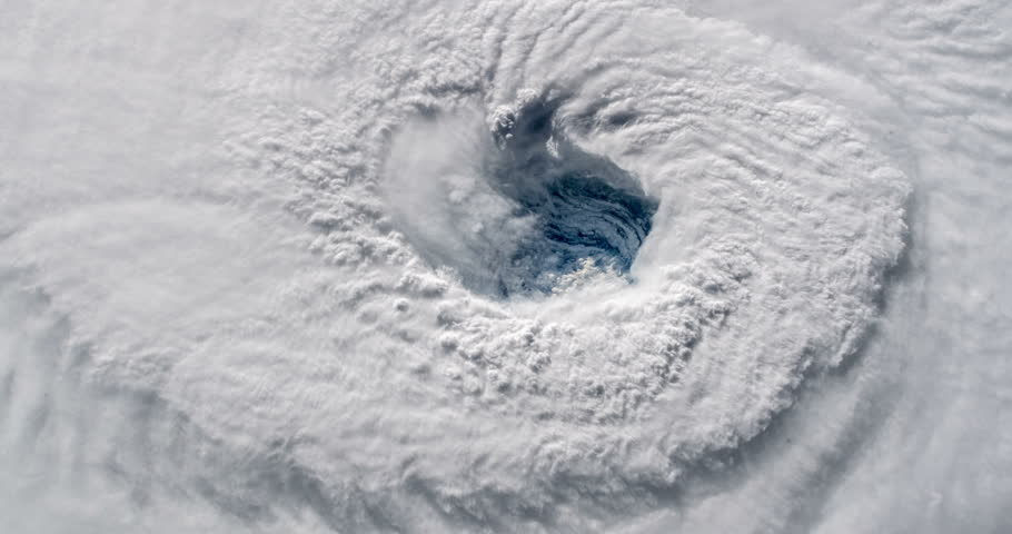 Hurricane Florence Eye Wall Elements of this clip furnished by NASA #1016354263