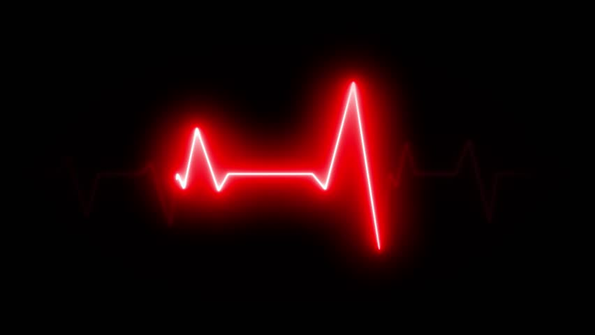 4k Scanner Heart Pulsation Wave Signal/ Animation of a health technology background with red sine wave of heart pulsation signal Royalty-Free Stock Footage #1016362723
