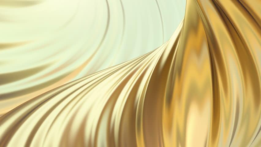 Gold satin or silk background. Golden animation texture