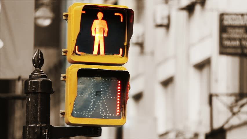 Traffic Light Close-Up. Background Sepia Tone.   Shutterstock HD Video #1016407714