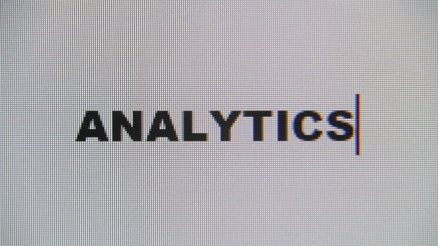 Typing the word Analytics on a computer monitor. Macro detail shot.  | Shutterstock HD Video #1016413915