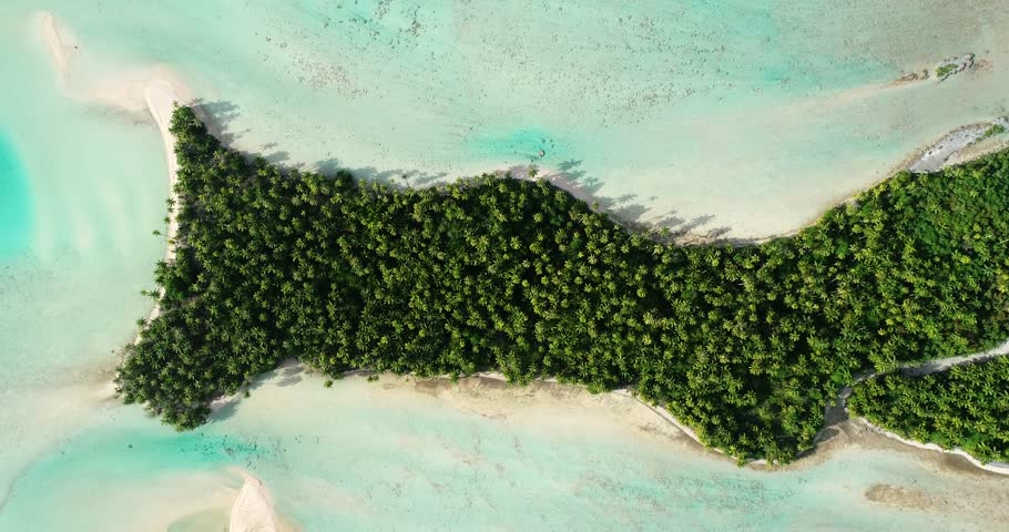 Atoll in aerial view, French Polynesia | Shutterstock HD Video #1016435062