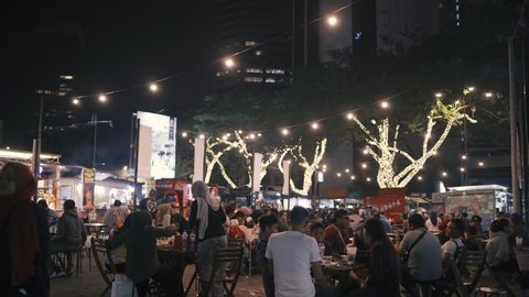 Kuala Lumpur, Malaysia - 17 September 2018. Kuala Lumpur food truck location, Tapak. Famous dining area around Kuala Lumpur.