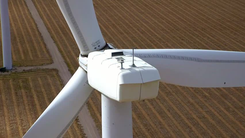 Paning drone shot of a wind turbine in Colorado | Shutterstock HD Video #1016481961
