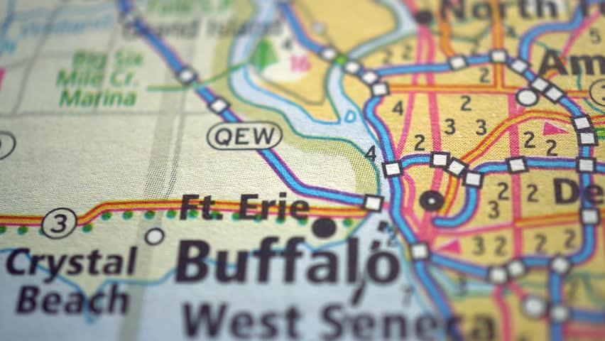 Buffalo on USA Road Map, Slider Shot, Slider Shot, Berdichev, Ukraine, 15 August 2018 #1016499178