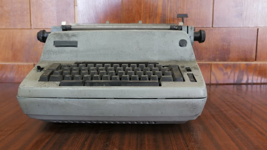 Old fashioned typewriter. The dirty and dusty typewriter.  | Shutterstock HD Video #1016500819