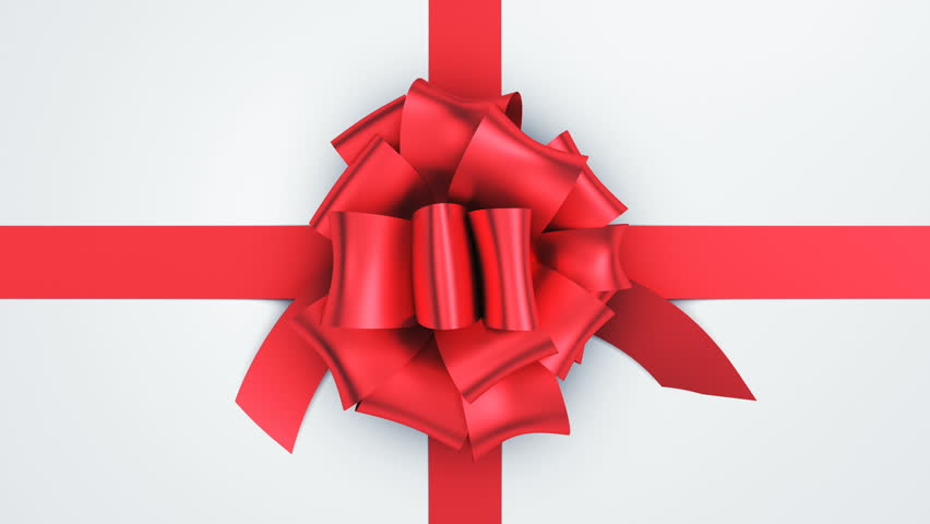 Opening Beautiful Gift Box With Ribbons and Big Bow. 5 videos in 1. Unpacking Gift 3d Animation Elements on Green Screen Alpha Channel. Untying Decorative Knot. 4k Ultra HD 3840x2160. #1016509171
