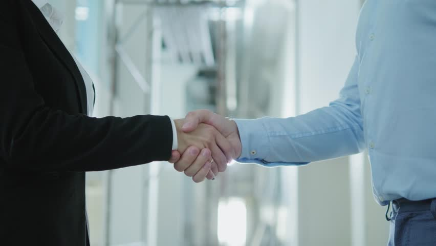 Two business partners shake their hands #1016514100