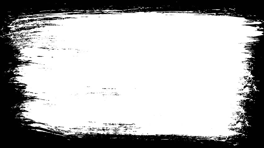 Paint Brush Stroke Frame Drawing/ Animation of a 4k black and white abstract paint brush stroke, drawing a frame background #1016517934