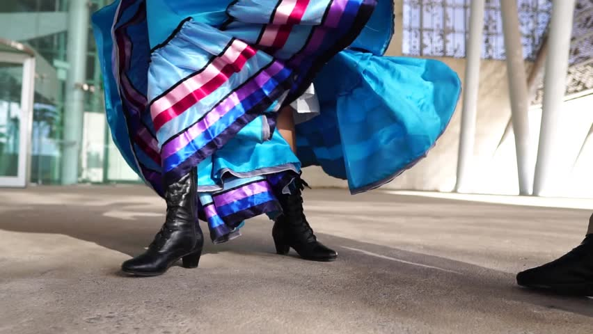 baile tipico mexicano de folclor / typical Mexican dance of folklore Royalty-Free Stock Footage #1016549137