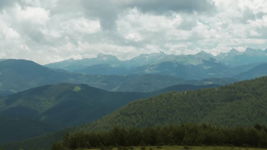 Pyrenees Landscapes, Nature And Mountains, Spain - graded version. Graded and stabilized version. Watch also for the native material (4:2:2, 10 Bit), straight out of the camera.   Shutterstock HD Video #1016583175