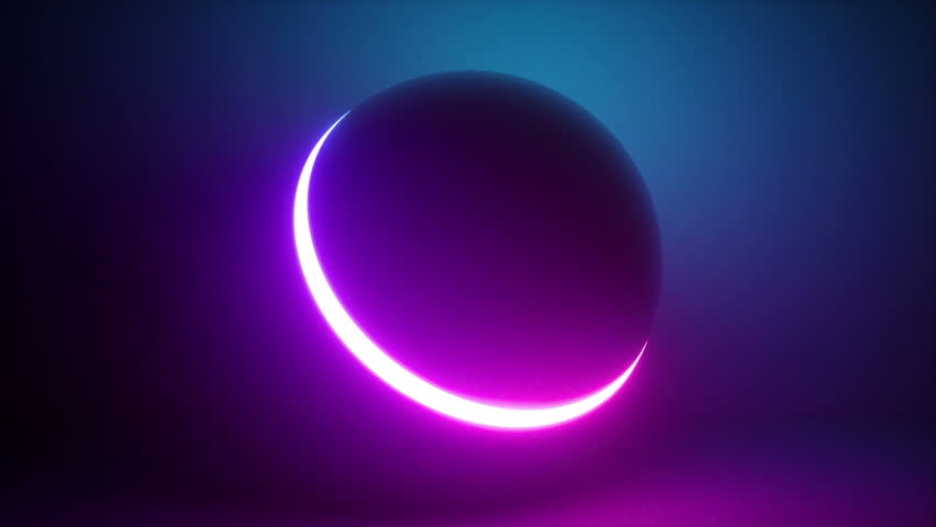 3d rendering, glowing neon light sphere, laser show, blank space, disco ball, esoteric energy, abstract background, looped animation, ultraviolet spectrum | Shutterstock HD Video #1016619484