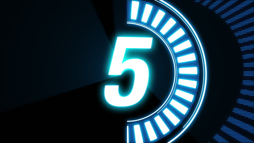 5sec count down animation. neon color pop style counter. count end will whiteout.
